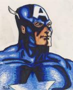 Superhero Drawings - Captain America by Davis Elliott