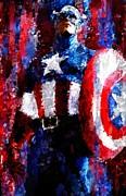 Captain America Signed Prints Available At Laartwork.com Coupon Code Kodak Print by Leon Jimenez