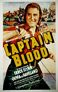 1935 Movies Prints - Captain Blood, Errol Flynn, 1935 Print by Everett