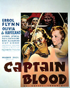 Errol Posters - Captain Blood, Errol Flynn, Olivia De Poster by Everett