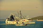 Shrimp Boat Prints - Captain Bobs Shrimp Boat Print by Susanne Van Hulst