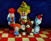 Clown Painting Originals - Captain Candycorns Dollhouse Choir by Doug Strickland