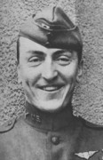 World War One Painting Prints - Captain Eddie Rickenbacker Print by War Is Hell Store