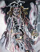 Jack Sparrow Paintings - Captain Jack Sparrow - KK02 by John Kelting