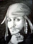 Captain Jack Sparrow Prints - Captain Jack Sparrow Print by Aoife  Joyce