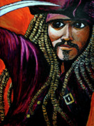 Jack Sparrow Paintings - Captain Jack Sparrow by Bob Crawford