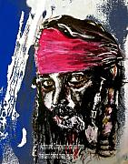 Pirates Mixed Media Prints - Captain Jack Sparrow Pirates of the Caribbean Print by Lee Krbavac