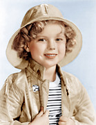Curly Hair Framed Prints - Captain January, Shirley Temple, 1936 Framed Print by Everett