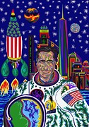 Barrack Obama Posters - Captain Mitt Romney - American Dream Warrior Poster by Robert  SORENSEN