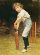 Cricket Framed Prints - Captain of the Eleven Framed Print by Philip Hermogenes Calderon