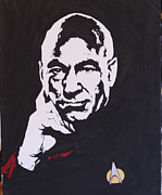 Enterprise Paintings - Captain Picard by Robert Epp