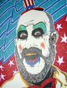 Cult Drawings Framed Prints - Captain Spaulding Framed Print by Michael Toth