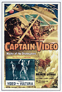 1950s Poster Art Framed Prints - Captain Video Master Of The Framed Print by Everett