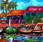 Tropical Trees Paintings - Captains Walk by Patti Schermerhorn