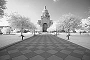 Austin Building Framed Prints - Captiol IR Framed Print by John Gusky
