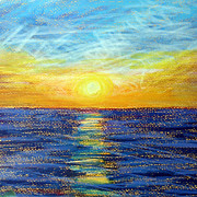Florida Drawings - Captiva Sunset by Tina McCurdy