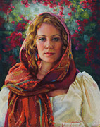 Pastel Portrait Framed Prints - Captivated Framed Print by Jean Hildebrant