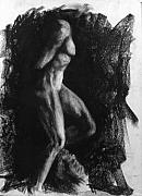 Female Figure Drawings Drawings Drawings - Captive Slave by Chris Riley