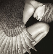 Winged Figure Posters - Captivity Poster by Pat Erickson