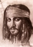 Pirate Drawings - Capt.Jack by Jack Skinner
