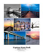 Babylon Framed Prints - Captree Poster Framed Print by Vicki Jauron
