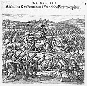 Inca Posters - Capture Of Atahualpa, 1532 Poster by Granger