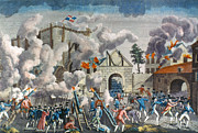 Bastille Photo Prints - Capture Of Bastille, 1789 Print by Granger