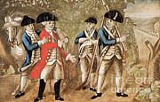 Betrayal Photos - Capture Of Major Andre, 1780 by Photo Researchers