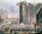 French Revolution Prints - Capture Of The Bastille Print by Granger