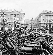 Barrels Prints - Captured German Guns at Palace de la Concorde in Paris - France Print by International  Images