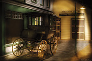 Carriage Photo Prints - Car - Wagon - The carriage Print by Mike Savad