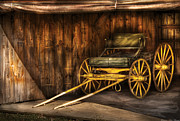 Horse Buggy Posters - Car - Wagon - The old wagon Poster by Mike Savad