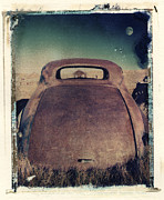 Polaroid Transfer Prints - Car and Moon Print by Joe  Palermo
