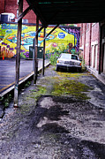 Overhang Photo Framed Prints - Car And Street Art Framed Print by HD Connelly