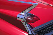 Tail Fin Prints - Car detail Print by Garry Gay