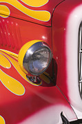 Classic Car.hot-rod Photos - Car headlight by Garry Gay