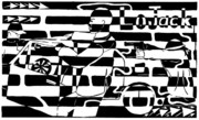 Maze Ad Mixed Media Prints - Car-Jacking Maze for LoJack Advert Print by Yonatan Frimer Maze Artist