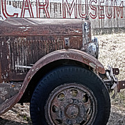Rusted Cars Framed Prints - Car Museum Framed Print by Tony Grider