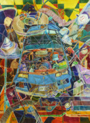 Car Part Originals - Car of Many Colors by Karen Merry