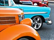 Car Show Beauties Print by Marion McCristall