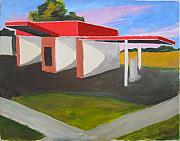 Asphalt Paintings - Car Wash East Hill Pensacola by Jahna Jacobson