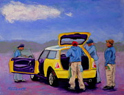 Wash Pastels - Car Wash by Marion Derrett