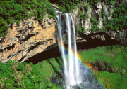 Tropical Photographs Photos - Caracol Falls Brazil. by Utah Images
