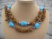 Silver Turquoise Jewelry Originals - Caramel Dream by Cara McMannis