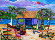 Scuba Painting Prints - Caras Island Time Print by Patti Schermerhorn