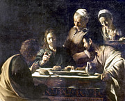 Emmaus Paintings - Caravaggio: Emmaus by Granger