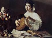 Lutenist Framed Prints - Caravaggio: Luteplayer Framed Print by Granger
