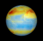 Co2 Prints - Carbon Dioxide Levels, Atlantic, 2003 Print by Nasagoddard Svsjpl