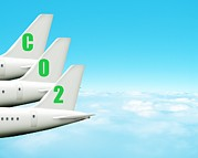 Co2 Framed Prints - Carbon Footprint Of Aeroplanes, Artwork Framed Print by Victor Habbick Visions