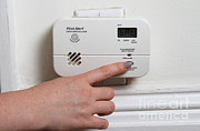 Safety Test Posters - Carbon Monoxide Alarm Poster by Photo Researchers, Inc.